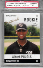 2001 Just Rookies Feature Albert Pujols Maple Woods CC 1st Graded Gem Mint 10