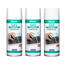 More details for compressed air duster gas 400ml spray dust blower cleaner multipacks with straw
