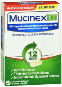 Mucinex DM Maximum Strength Suppressant Tablets 42 Count - New - Free Shipping