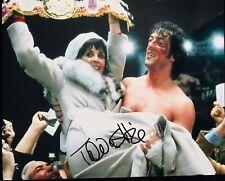 Talia Shire Firmato Sylvester Stallone' Rocky 8x10 Foto - in Persona Proof
