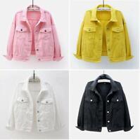 2021 Spring New Women's Short Denim Jacket girls Casual Loose Jeans Coats