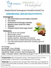 Simply Natural Lemongrass Cinnamon Herbal Tea (30 Bags)