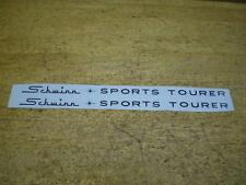 Complete Schwinn Black Sports Tourer Bicycle Down Tube Decal Set