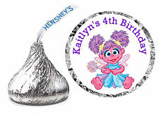 216 ABBY CADABBY BIRTHDAY PARTY FAVORS HERSHEY KISS LABELS