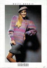 Filatura Di Crosa Knitting Booklet w/8 Patterns for Multi Mohair Yarn