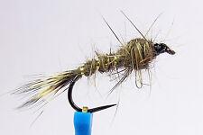 1x Mouche Nymphe Oreille de lievre H10/12/14 BARBLESS hook mosca fliegen fly
