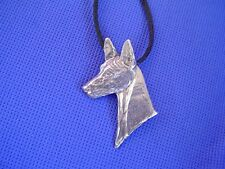 Pharaoh Hound necklace #54A Pewter Egyptian Dog Jewelry by Cindy A. Conter