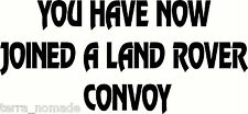 LAND ROVER CONVOY STICKERS DECAL GRAPHICS DEFENDER DISCOVERY RANGE SERIES 4X4