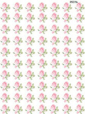 VinTaGe IMaGe ToNs of SmaLL PinK RoSeS ShaBby WaTerSLiDe DeCALs KnoBs HanGeRs