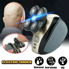 4D Rotary Electric Shaver Rechargeable Bald Head Shaver Beard Trimmer 5 Head