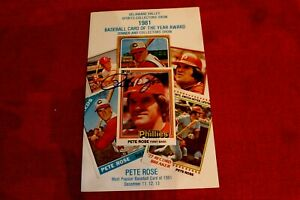 PETE ROSE Signed 1981 Delaware Valley Show Program -Guaranteed Authentic