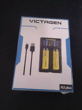 VICTAGEN 18650 Lithium Battery (2 Packs) and Battery Charger, Universal