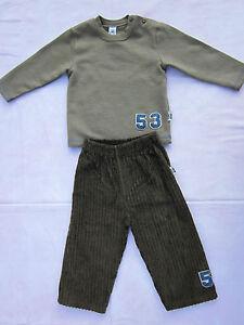 Junge Gr.80 --> Hose/Cordhose und Pullover, Kombination Hose + Sweatshirt braun