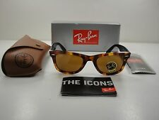 RAY-BAN WAYFARER FLECK SUNGLASSES RB2140 1161 TORTOISE FRAME/BROWN LENS 50MM