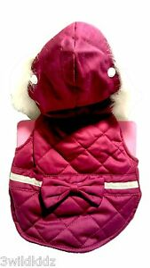 BOOTS & BARKLEY Dog Jacket w/Hood Quilted Reflective Fleece Lined - Large