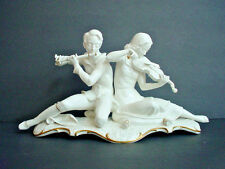 "Vintage Art Deco Hutschenreuther Germany White Porcelain Large Figurine 16"""