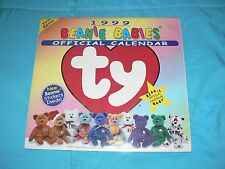 Rare Ty Beanie Babies 1999 Calendar Never Opened First Edition