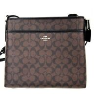 NWT Coach Signature Crossbody File Bag Brown/ Black F34938  $225.00