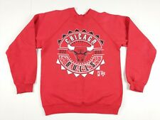 VTG Hanes Chicago Bulls Crewneck Sweatshirt YOUTH Medium Red NBA Jordan
