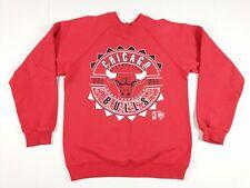 VTG Hanes Youth Chicago Bulls Crewneck Sweatshirt Medium Red NBA Jordan