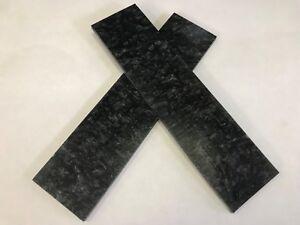 """KIRINITE: Black Ice 1/8""""  6"""" x 1.5"""" Scales for Wood Working, Knife Making, Bush"""
