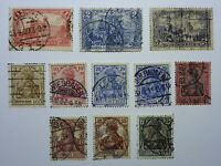 LOT 668 TIMBRES STAMP DIVERS ALLEMAGNE EMPIRE ANNEE 1902 - 1919