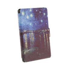 PU Leather Smart Case Cover Protector Painting for Kindle Paperwhite 1 Blue
