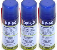 3 x DP-60 White Lithium Grease Maintenance Spray DP60 Synthetic Lubricant 200ml.