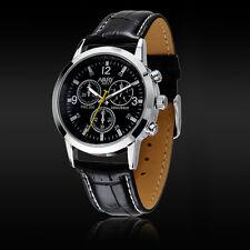 1PC Sport Military Quartz Dial Men Leather Wrist Watch Round Case Cheap W