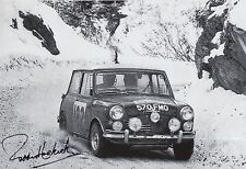 Paddy Hopkirk Hand Signed 12x8 Photo Mini Cooper Rally 12.