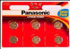 8 X Panasonic Cr2032 3v de litio moneda batería de 2032