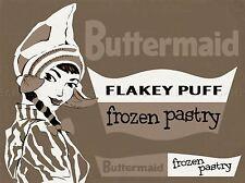 Publicidad de alimentos hojaldre buttermaid neerlandés Sombrero Niña congelados Usa impresión lv894