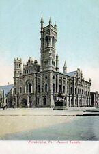 PHILADELPHIA - Pennsylvania - Masonic Temple - USA Vintage Postcard (BBN)