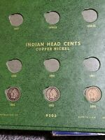CLASSIC GREEN WHITMAN FLYING EAGLE - INDIAN CENTS 9203 - 22 COINS