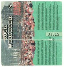Rock Werchter ticket July 5, 1992 Lou Reed Michael Jackson Chili Peppers rare