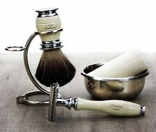 5 Pcs Men's Grooming Shaving Gift Perfect Clean Shave Kit Safety Razor, Brush