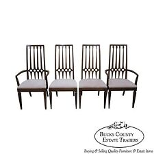 Thomasville Mid Century Set of 4 Hollywood Regency Style Dining Chairs