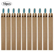 10PCS Bamboo Toothbrush Biodegradable Wooden Eco Medium Soft Bristle Oral Care