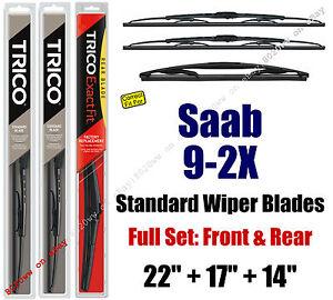 Wiper Blades 3pk Front Rear Standard fit 2005-2006 Saab 9-2X - 30221/170/14B