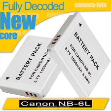 2x Battery for Canon Nb-6L Nb-6Lh PowerShot S90 S95 Digital Ixus 105 Is
