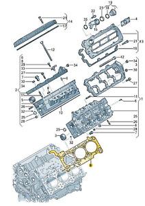 Original Zylinderkopfdichtung (059103383MS) für verschiedene VW/Audi Modelle