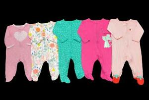 Baby Girl 3 Months 6 Months ALL Carter's Cotton Footy Sleeper Pajama Clothes Lot