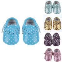 0-3Y Baby Kids Tassel Soft Sole Leather Shoes Infant Boy Girl Toddler Moccasin