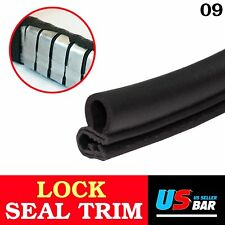 "120"" Black Rubber Seal Trim Weather Strip Car Door Lock Edge Decorate DIY"