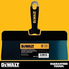"DEWALT Taping Knife 12"" Premium Blue Steel Big Back Drywall Taping Tool"