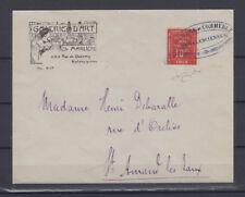 FRANCIA 1914 FRANCOBOLLI DI GUERRA VALENCIENNES 10 C. SU BUSTA CERT.