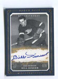 2008-09 UD Masterpieces Brushstrokes Blue /25 #MB-BD Bill Dineen Hockey