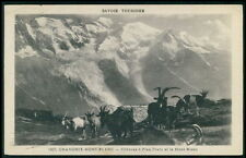 Goat in Chamonix Mont Blanc Savoy France Italy Switzerland old 1930s postcard