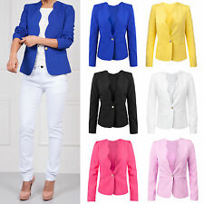 Button Denim Patternless Casual Coats & Jackets for Women