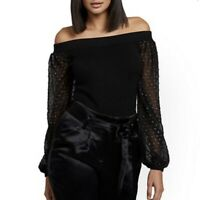 Women's NY&CO Clip-Dot Off-The-Shoulder Sweater Size M